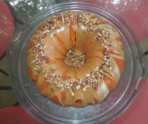 Southern Pecan Poundcake with Brown Sugar Glaze from Carole Walters' Great Cakes