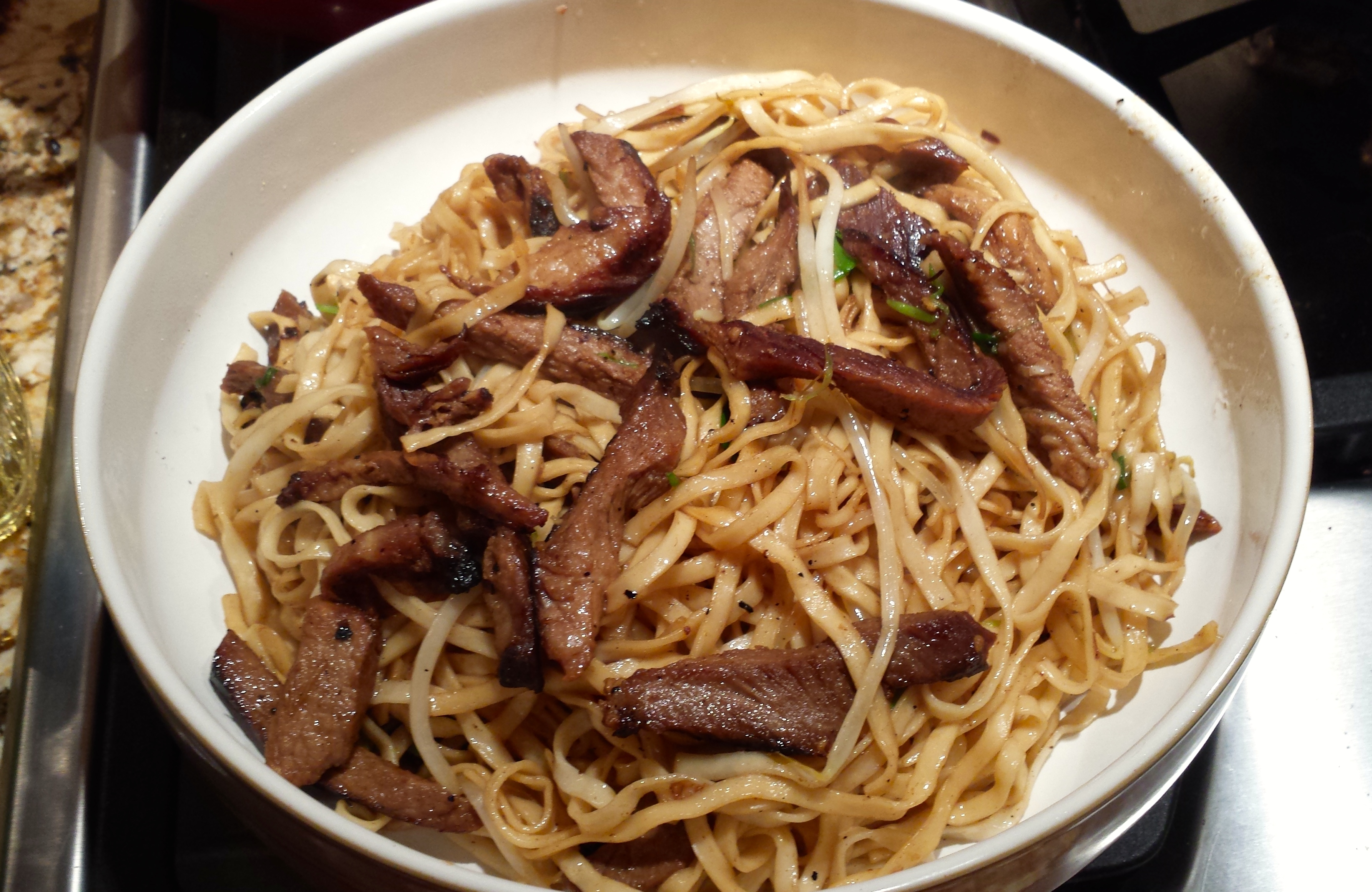 how to make pork lo mein